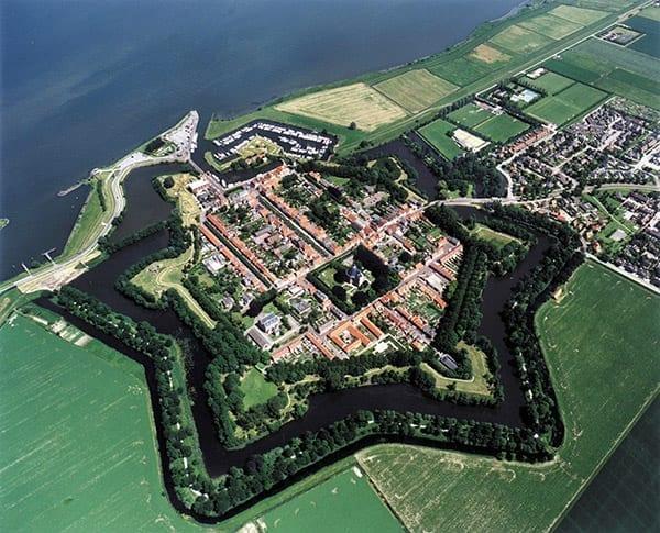 Willemstad vanuit de lucht
